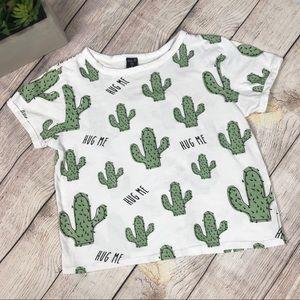 Hug Me Cactus Tee 100% Cotton Size Small